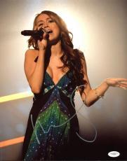 Miley Cyrus Singer Signed 11x14 Photo Autographed JSA #E56358
