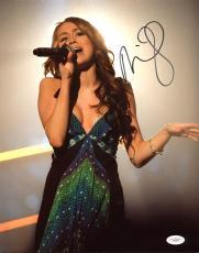 Miley Cyrus Singer Signed 11x14 Photo Autographed JSA #E56367
