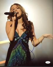 Miley Cyrus Singer Signed 11x14 Photo Autographed JSA #E82251