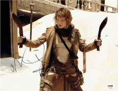 Milla Jovovich Resident Evil Autographed Signed 11x14 Photo Certified PSA/DNA