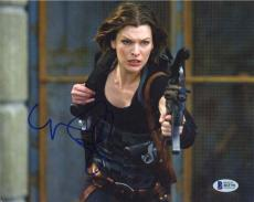 Milla Jovovich Resident Evil Autographed Signed 8x10 Photo Beckett BAS COA AFTAL