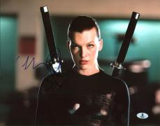 Milla Jovovich Resident Evil Signed 11X14 Photo BAS #B03598