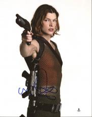 Milla Jovovich Resident Evil Signed 11X14 Photo BAS #B03599
