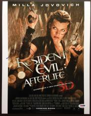 Milla Jovovich Signed 11x14 Photo Autograph Psa Dna Coa Resident Evil Afterlife