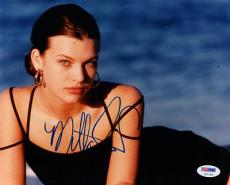 MILLA JOVOVICH SIGNED AUTOGRAPHED 8x10 PHOTO YOUNG VERY RARE PSA/DNA