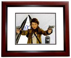 Milla Jovovich Signed - Autographed Resident Evil 8x10 inch Photo - MAHOGANY CUSTOM FRAME - Guaranteed to pass PSA or JSA