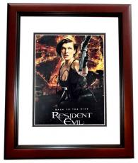 Milla Jovovich Signed - Autographed Resident Evil 8x10 inch Photo - MAHOGANY CUSTOM FRAME - Guaranteed to pass PSA or JSA