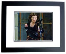 Milla Jovovich Signed - Autographed Resident Evil 8x10 Photo BLACK CUSTOM FRAME