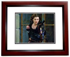 Milla Jovovich Signed - Autographed Resident Evil 8x10 inch Photo MAHOGANY CUSTOM FRAME - Guaranteed to pass PSA or JSA