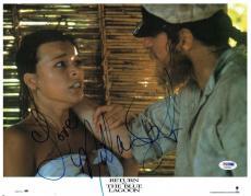 Milla Jovovich Signed Blue Lagoon Autographed 11x14 Photo PSA/DNA #X32008
