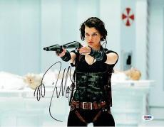 Milla Jovovich Signed Resident Evil Authentic Auto 11x14 Photo PSA/DNA #AB55795