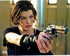Milla Jovovich Signed Resident Evil Authentic Auto 11x14 Photo PSA/DNA #AB55796