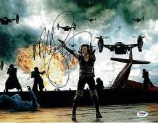 Milla Jovovich Signed Resident Evil Authentic Auto 11x14 Photo PSA/DNA #AB55798