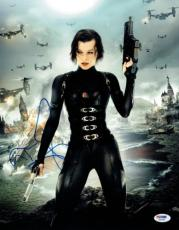 Milla Jovovich Signed Resident Evil Autographed 11x14 Photo PSA/DNA #X06785
