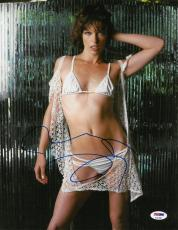Milla Jovovich Signed Sexy Authentic Autographed 11x14 Photo PSA/DNA #AC81886