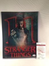 "MILLIE BOBBY BROWN SIGNED STRANGER THINGS 11x14 PHOTO JSA 2 ""ELEVEN"