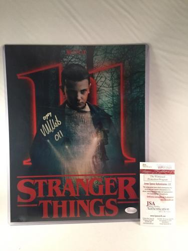 "MILLIE BOBBY BROWN SIGNED STRANGER THINGS 11x14 PHOTO JSA 2 ""ELEVEN"
