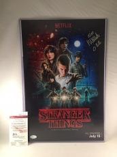 "MILLIE BOBBY BROWN SIGNED STRANGER THINGS 12x18 PHOTO JSA 2 ""ELEVEN"