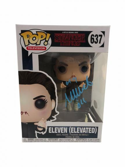 Millie Bobby Brown Autograph Funko POP Stranger Things Eleven Elevated JSA COA
