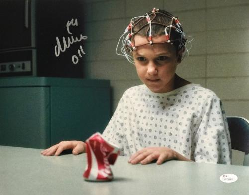 Millie Bobby Brown Eleven Signed 11x14 Stranger Things Can Crush Photo JSA