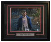 Millie Bobby Brown Eleven Signed Framed Stranger Things 11x14 Woods Photo BAS