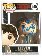 Millie Bobby Brown Eleven Signed Stranger Things Season 2 Pop! Funko  #545 JSA