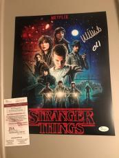Millie Bobby Brown Signed 11x14 Photo Stranger Things Eleven JSA Witness Cert
