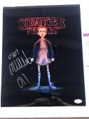 Millie Bobby Brown Signed 11x14 Photo Stranger Things Eleven JSA Witness Cert