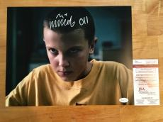 Millie Bobby Brown Signed 11x14 Photo Stranger Things Eleven JSA Witness Coa