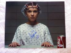 MILLIE BOBBY BROWN SIGNED 11x14 STRANGER THINGS BECKETT AUTH