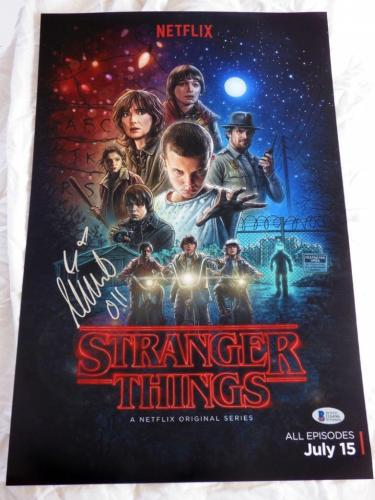 MILLIE BOBBY BROWN SIGNED 11x17 STRANGER THINGS BECKETT AUTHENTICATION
