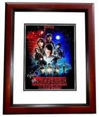 Millie Bobby Brown Signed - Autographed Stranger Things - 011 Inscription 11x14 inch Photo MAHOGANY CUSTOM FRAME - Guaranteed to pass PSA or JSA