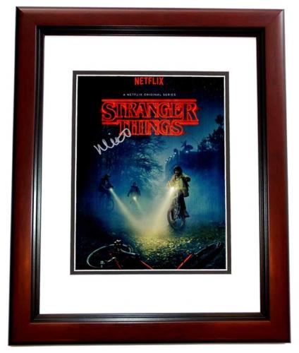 Millie Bobby Brown Signed - Autographed Stranger Things - Eleven 11x14 inch Photo MAHOGANY CUSTOM FRAME - Guaranteed to pass PSA or JSA
