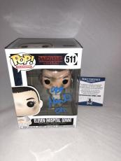 Millie Bobby Brown Signed Eleven Hospital Gown Stranger Things Funko Pop Bas