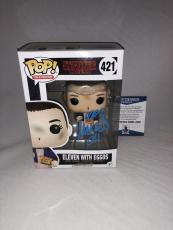 Millie Bobby Brown Signed Eleven W/ Eggos Stranger Things Funko Pop Bas Beckett