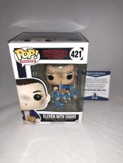 Millie Bobby Brown Signed Eleven W Eggos Stranger Things Funko Pop Bas Beckett 3