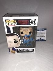 Millie Bobby Brown Signed Eleven W Eggos Stranger Things Funko Pop Bas Beckett 4