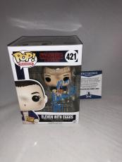 Millie Bobby Brown Signed Eleven W Eggos Stranger Things Funko Pop Bas Beckett 5