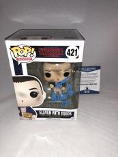 Millie Bobby Brown Signed Eleven W Eggos Stranger Things Funko Pop Bas Beckett 8