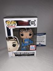 Millie Bobby Brown Signed Eleven W/ Electrodes Stranger Things Funko Pop Bas