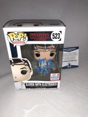 Millie Bobby Brown Signed Eleven W/ Electrodes Stranger Things Funko Pop Bas 2