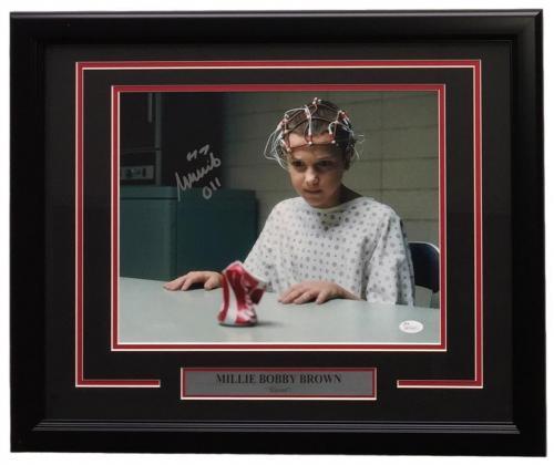 Millie Bobby Brown Signed Framed 11x14 Stranger Things Can Crush Photo JSA