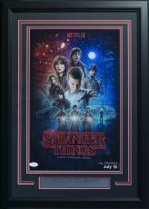 Millie Bobby Brown Signed Framed 11x17 Stranger Things Season 1 Poster JSA