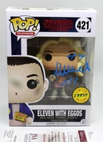 Millie Bobby Brown SIGNED Funko STRANGER THINGS Eleven JSA COA AUTOGRAPH CHASE