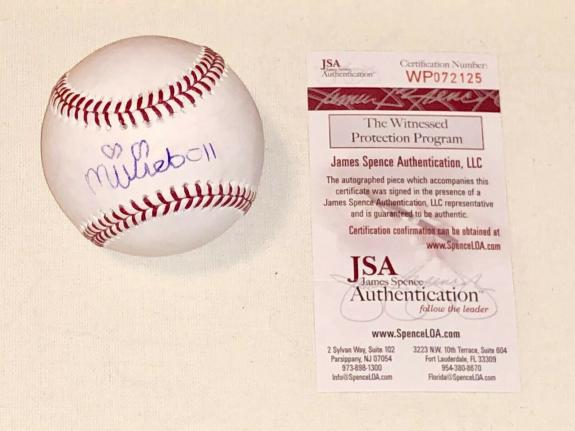 Millie Bobby Brown Signed OML Baseball  Stranger Things Eleven JSA Witness Cert
