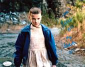 """Millie Bobby Brown Signed Stranger Things 8x10 Photo With """"Eleven"""" Inscription - Nose Bleeding"""
