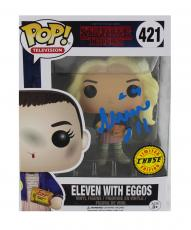 "Millie Bobby Brown Signed Stranger Things Funko Pop! #421 Action Figure With ""Eleven"" Inscription - Chase Variant"