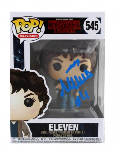 """Millie Bobby Brown Signed Stranger Things Funko Pop! #545 Action Figure With """"Eleven"""" Inscription"""