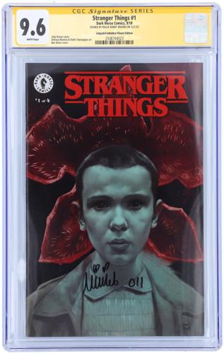 Millie Bobby Brown Stranger Things Autographed #1 Comic - CGC 9.6