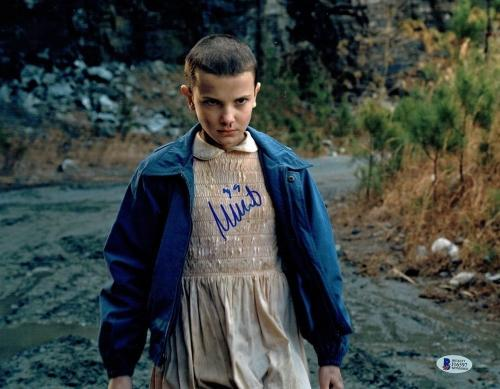 Millie Bobby Brown Stranger Things Autographed Signed 11x14 Photo BAS COA